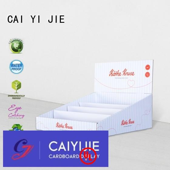 display stores countertop promotional custom cardboard counter displays CAI YI JIE Brand