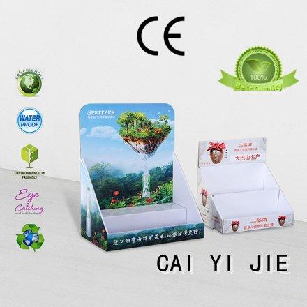 custom cardboard counter displays printed promotional cardboard display boxes CAI YI JIE Warranty
