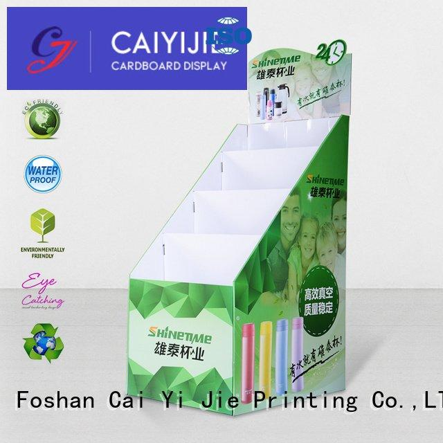 printed cardboard stand stores floor CAI YI JIE