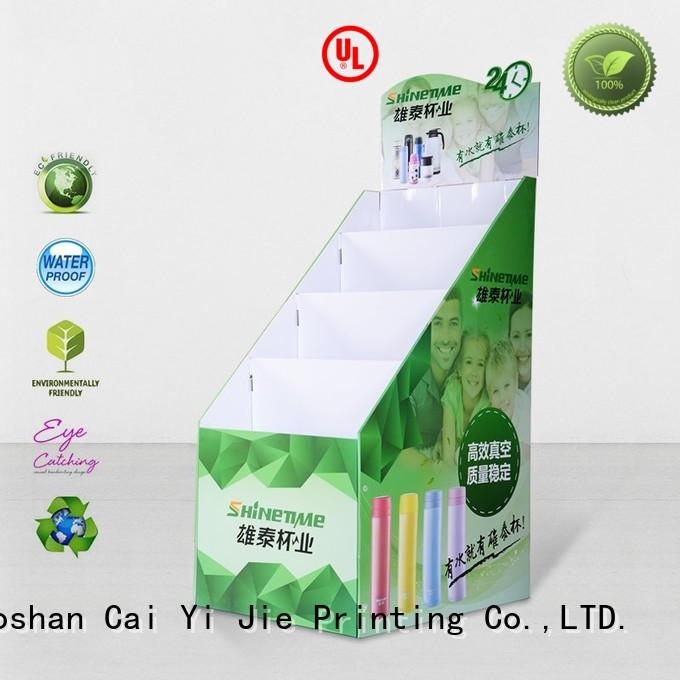 CAI YI JIE corrugated cardboard card display stand stand for promotion