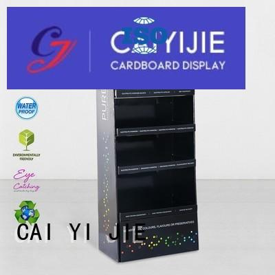 stairglossy fashion color CAI YI JIE Brand cardboard greeting card display stand manufacture