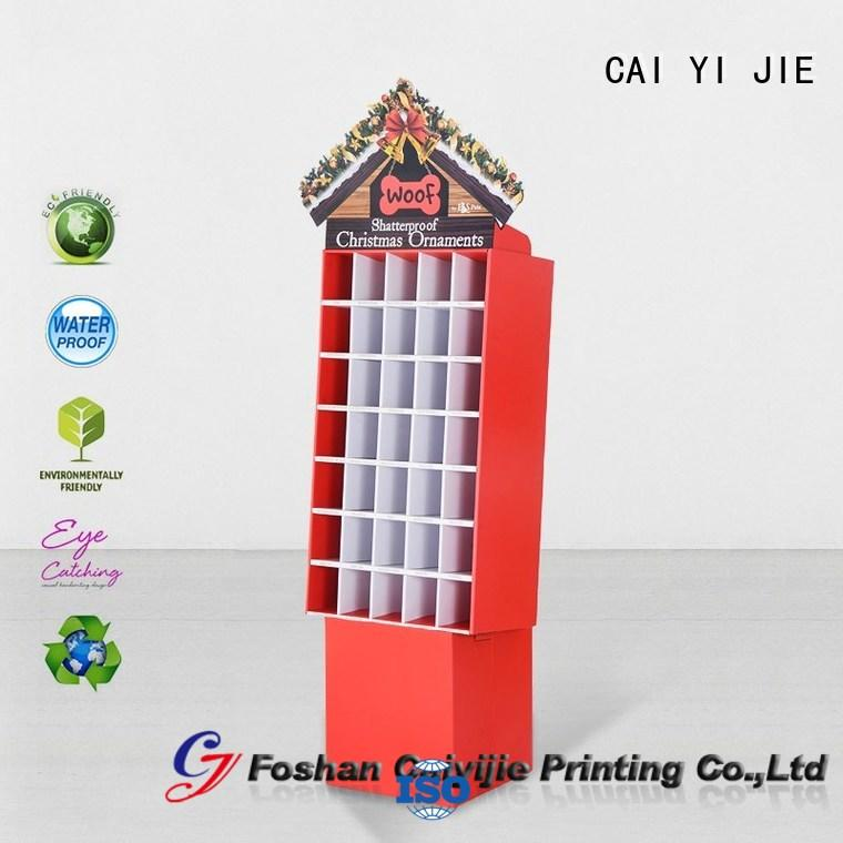 Hot cardboard stand pop CAI YI JIE Brand