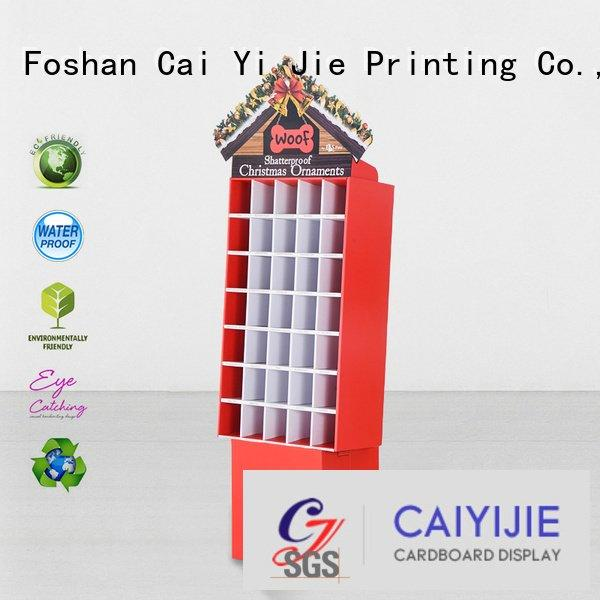 cardboard greeting card display stand printing plastic CAI YI JIE Brand