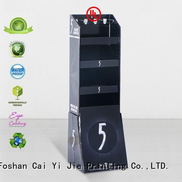 CAI YI JIE cardboard free standing display units cardboard display for phone accessories