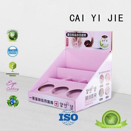 CAI YI JIE custom cardboard counter displays retail cardboard supermarkets