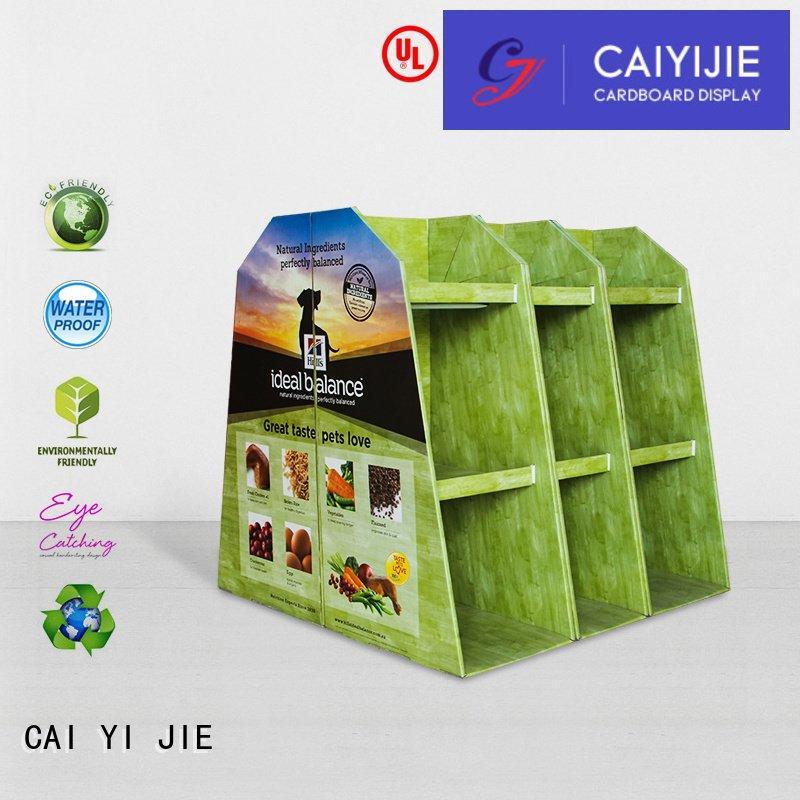 CAI YI JIE Brand promoting cardboard pallet display plastic pallet