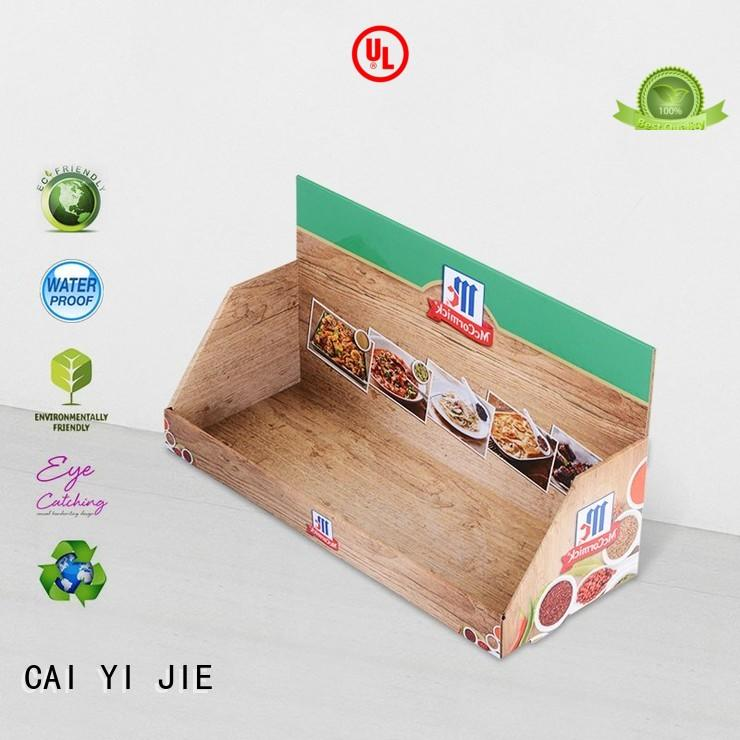 commodity cardboard countertop displays stands boxes for units chain