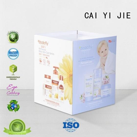 CAI YI JIE cardboard dump bins floor standing for commodities