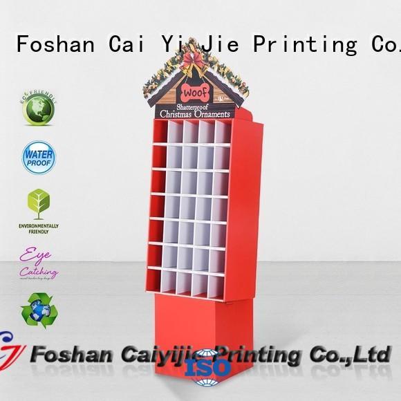 tube chain cardboard stand floor CAI YI JIE company