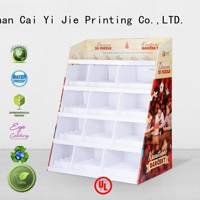 cardboard greeting card display stand retai cardboard stand CAI YI JIE Brand