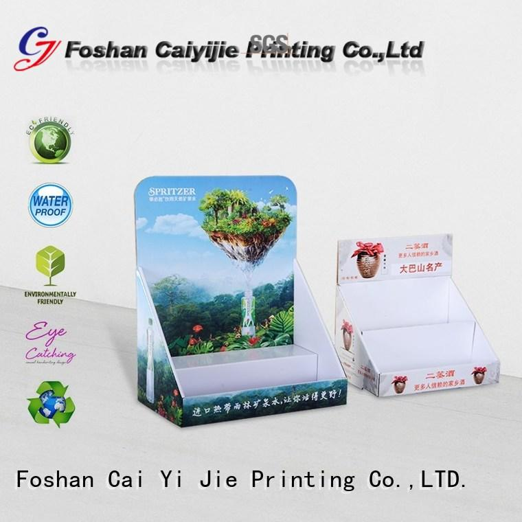 CAI YI JIE grocery cardboard counter display boxes stands boxes for marketing