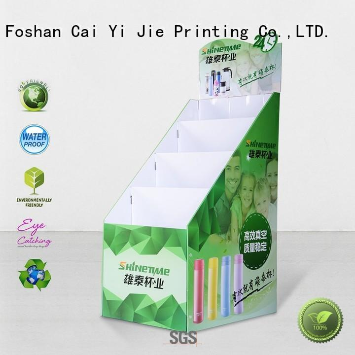 corrugated custom cardboard display stands chip for promotion