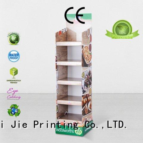 products fashion floor cardboard greeting card display stand CAI YI JIE
