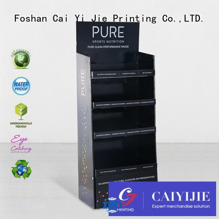Wholesale stores cardboard stand CAI YI JIE Brand