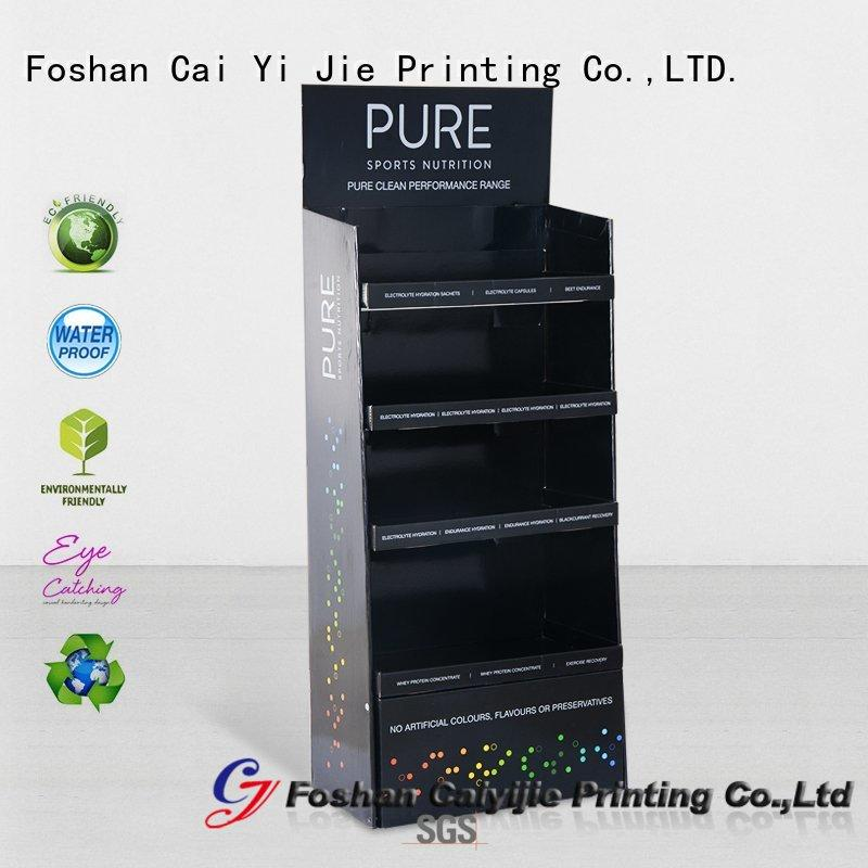 CAI YI JIE stainless tube cardboard pop displays display for socket selling