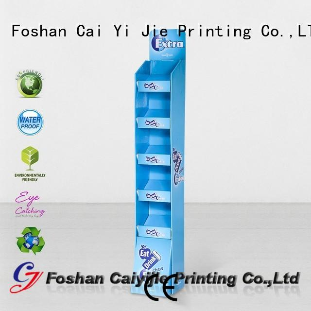 CAI YI JIE cardboard display shelves for led light