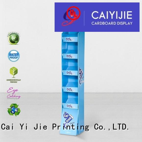 CAI YI JIE multifunctional cardboard product display for paper shelf