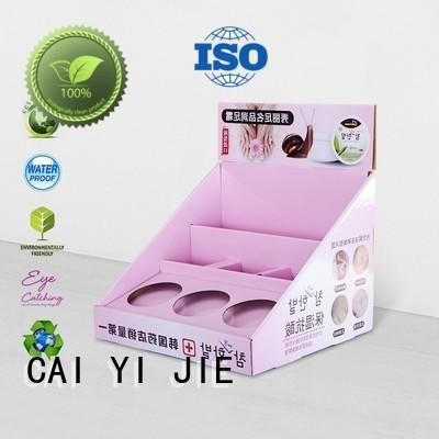 universal custom cardboard display boxes factory price CAI YI JIE