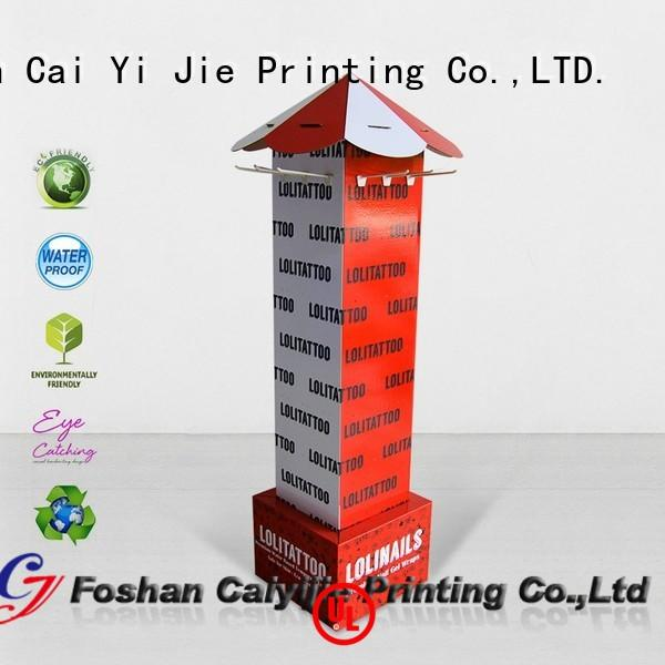 Quality CAI YI JIE Brand counter hook display stand stair