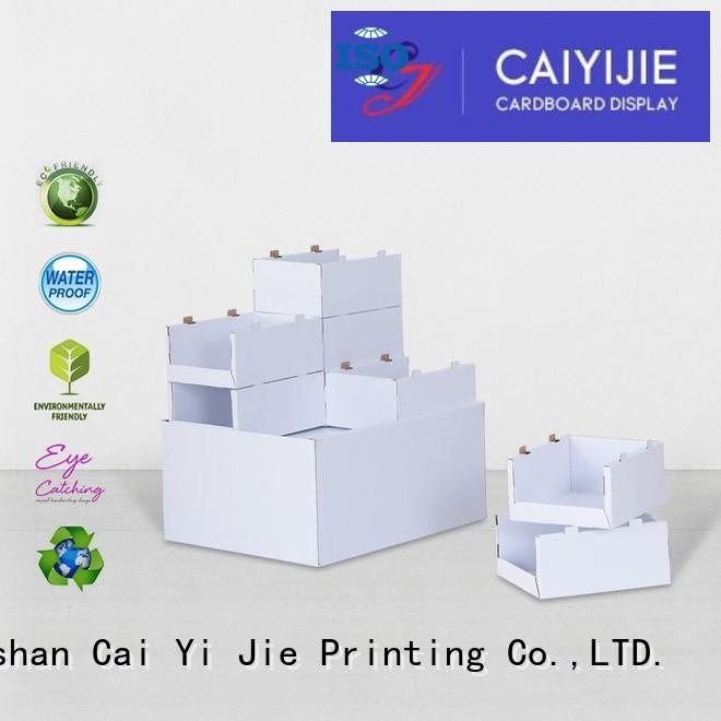 easy installation cardboard pallet boxes with lids sales for chain store CAI YI JIE