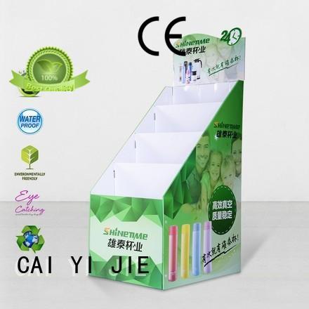 corrugated cardboard card display workbench for milk CAI YI JIE