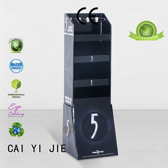 CAI YI JIE printing cardboard free standing display units for phone accessories