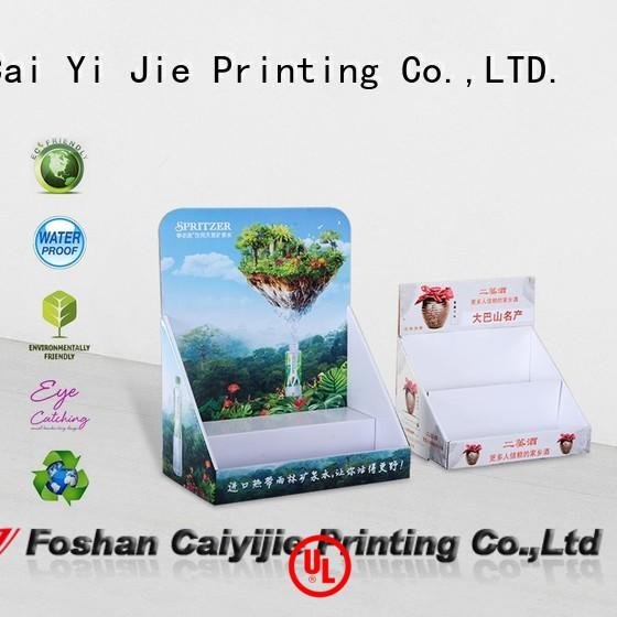 CAI YI JIE promotional cardboard pos display boxes for units chain