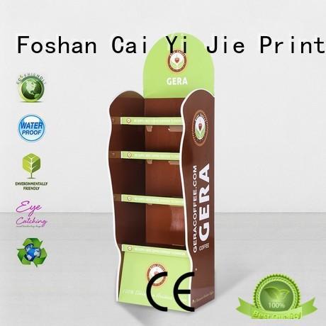 stairglossy step CAI YI JIE Brand cardboard greeting card display stand