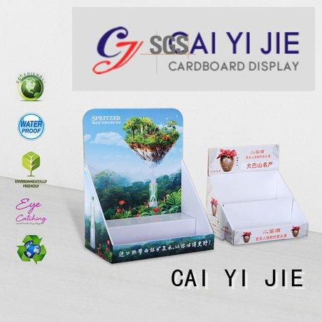 stores supermarkets products printed CAI YI JIE cardboard display boxes