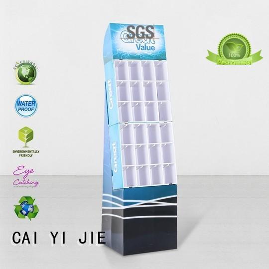 cardboard newspaper stands automotive for perfume CAI YI JIE