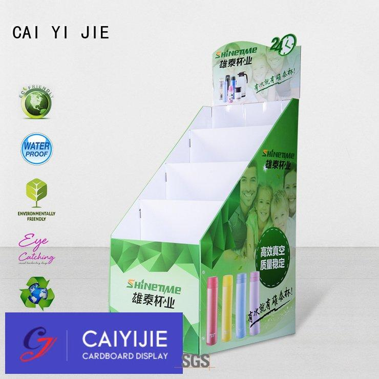 CAI YI JIE Brand pop stand display cardboard greeting card display stand