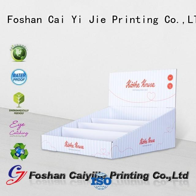 CAI YI JIE promotional cardboard display boxes factory price for units chain
