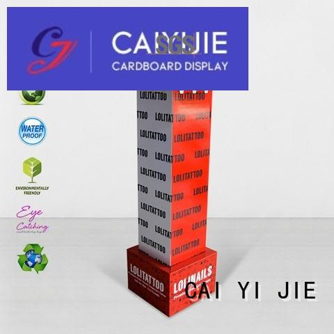 sale free standing display units cardboard hook stands for phone accessories