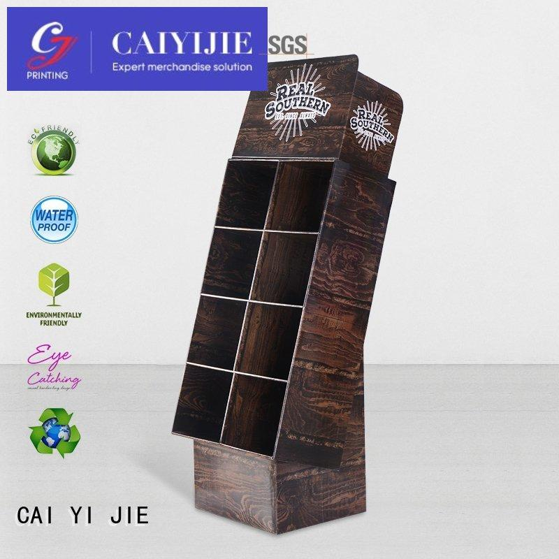 stores Custom stand cardboard stand stainless CAI YI JIE