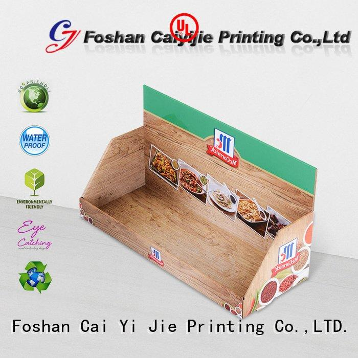 CAI YI JIE cardboard display boxes supermarkets units stores products
