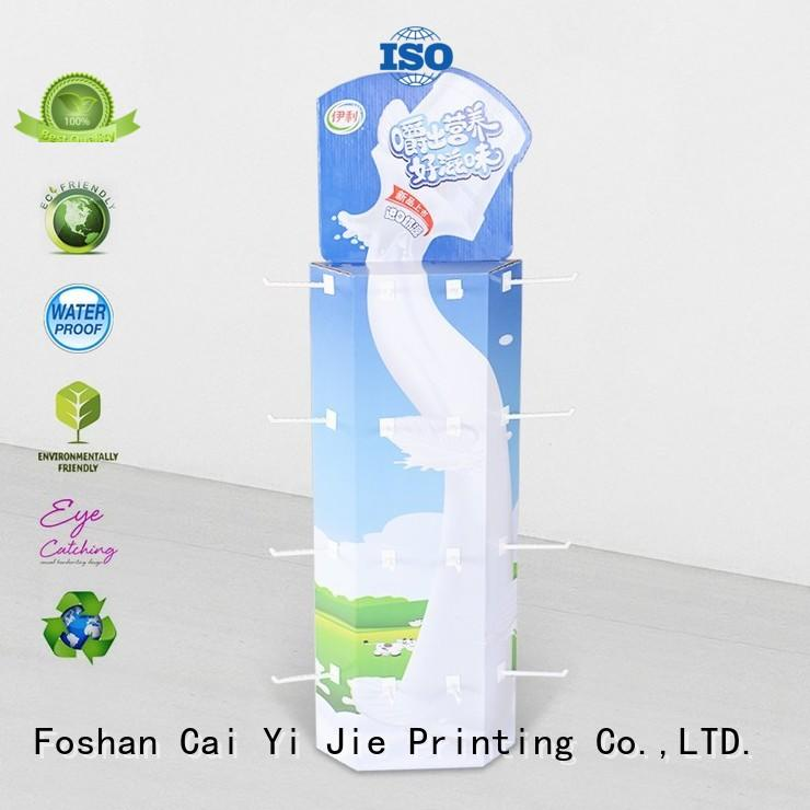 CAI YI JIE wing corrugated displays for stores