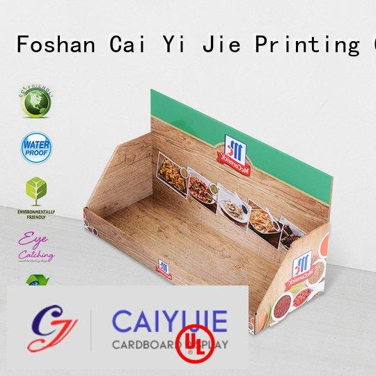 CAI YI JIE Brand marketing stands displays cardboard display boxes product