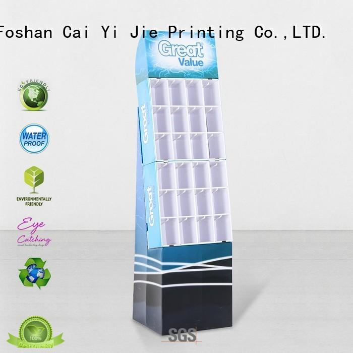 CAI YI JIE cheap product display stands factory for supermarket