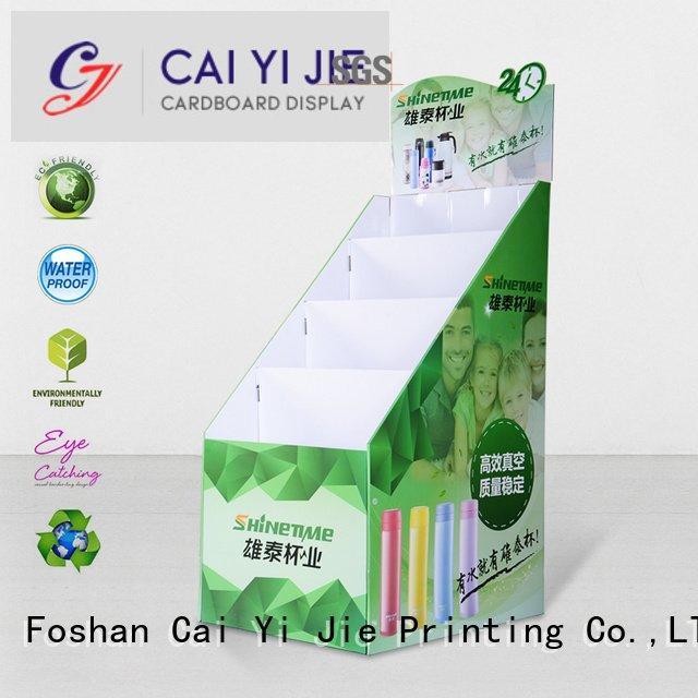 OEM cardboard greeting card display stand clip fashion uv cardboard stand