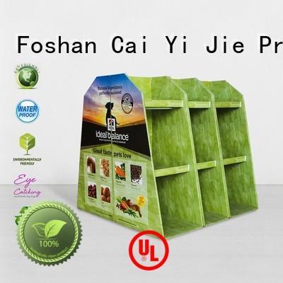 CAI YI JIE Brand pallet display cardboard pallet display pos