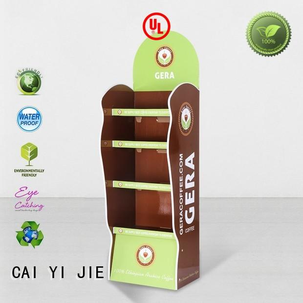 CAI YI JIE cardboard display stands for paper shelf