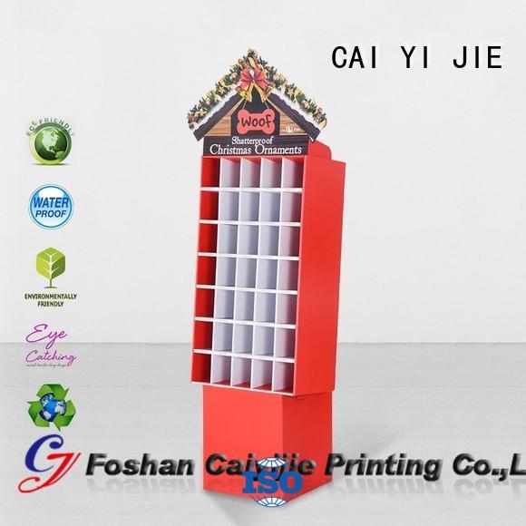 dumpbin cardboard display stair for socket selling CAI YI JIE