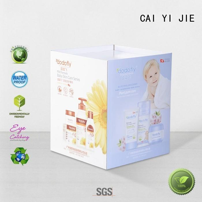 cardboard dump bins for retail cardboard bin CAI YI JIE Brand dumpbin