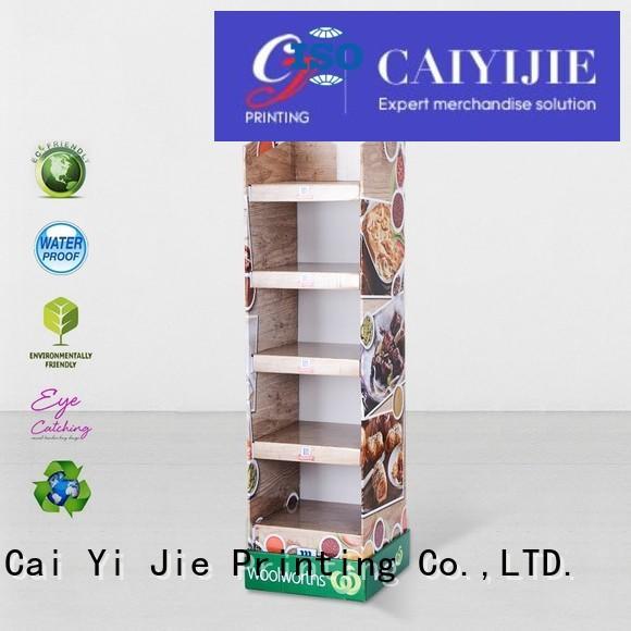 floor display dumpbin for kitchen supplies CAI YI JIE