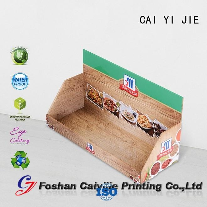 CAI YI JIE cardboard counter display boxes factory price for supermarkets