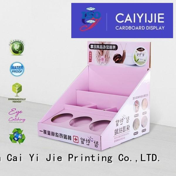 sale grocery cardboard display boxes units CAI YI JIE company