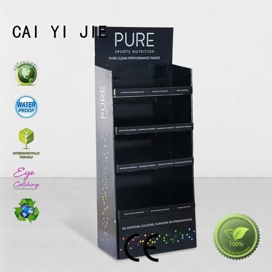 CAI YI JIE cardboard retail display soft for cabinet