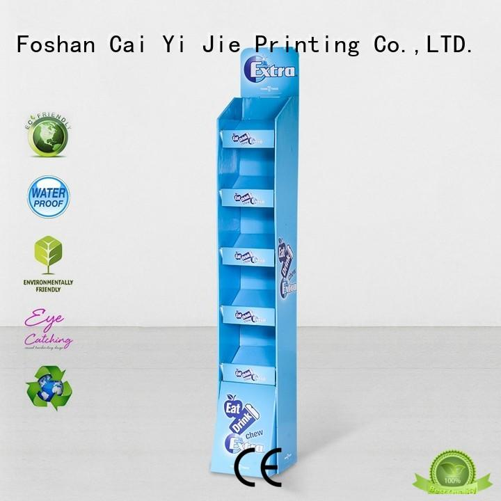 CAI YI JIE Brand products sale cardboard stand pop factory