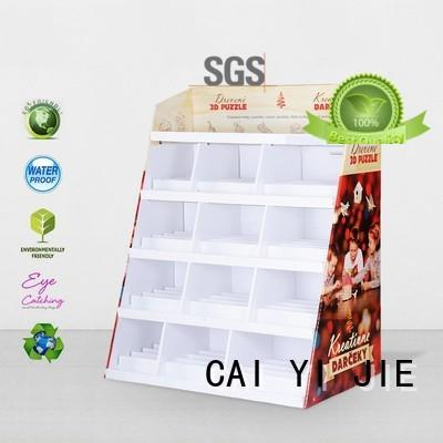 dumpbin free standing cardboard displays printed for cosmetics CAI YI JIE
