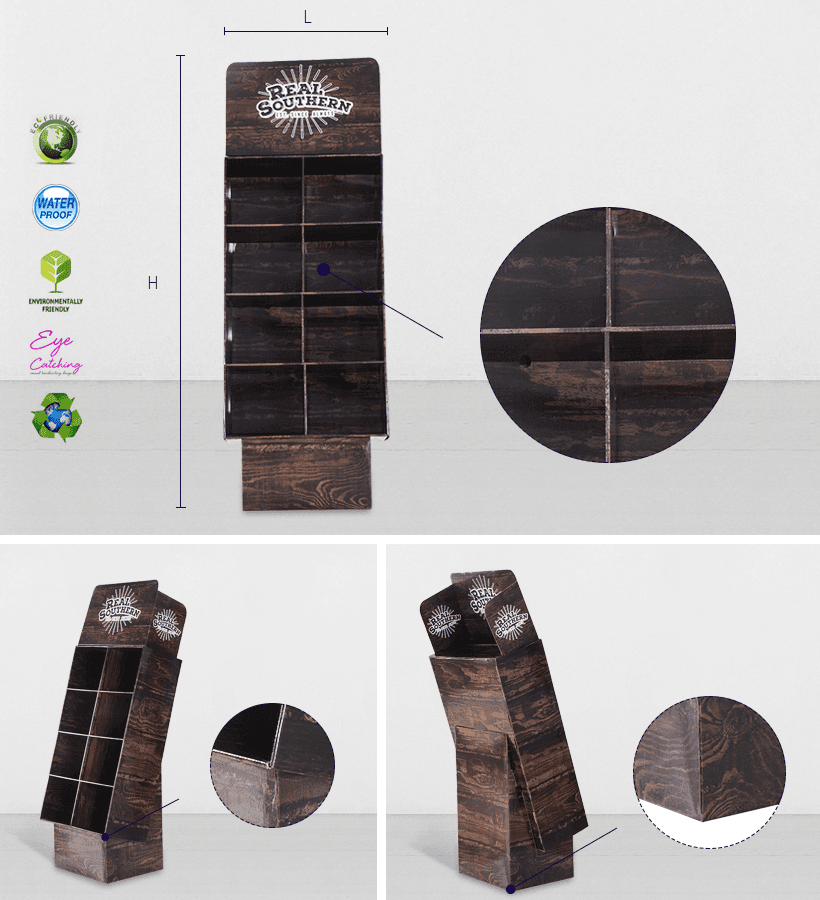 CAI YI JIE cardboard retail display sale for electronic lights for grids-2